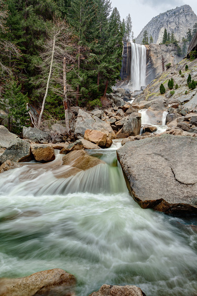 Merced River & Vernal Fall - Yosemite National Park