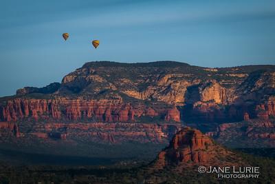 Sunrise and Balloons, Sedona