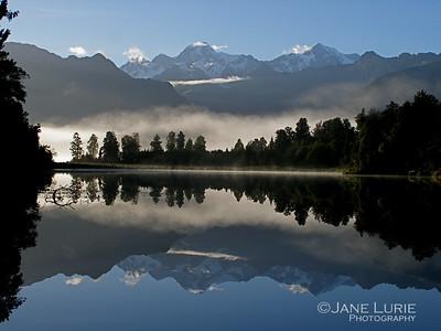 Morning, Lake Matheson, New Zealand