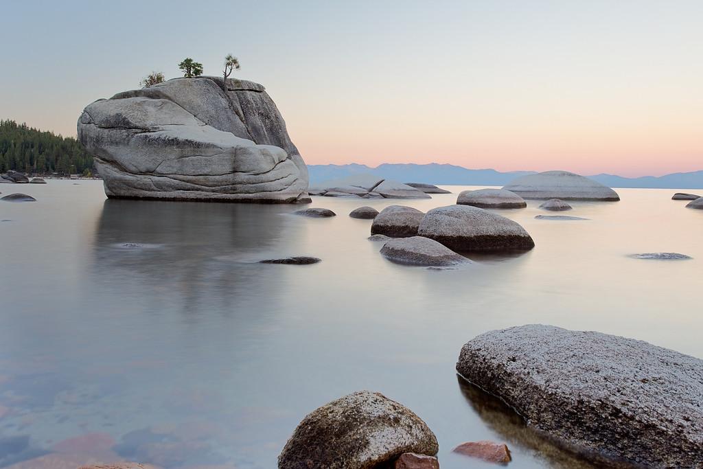 Bonsai Rock at Lake Tahoe, near Sand Harbor