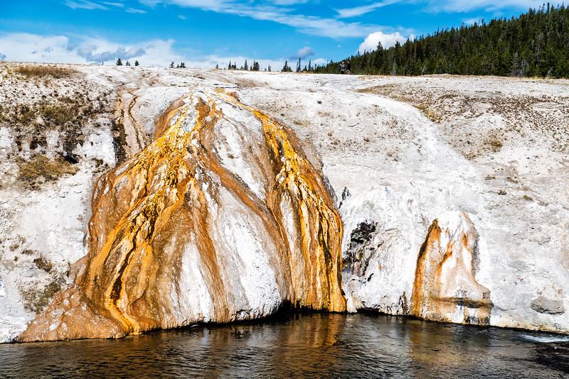 SAWMILL GEYSER OVERFLOW at UPPER GEYSER BASIN