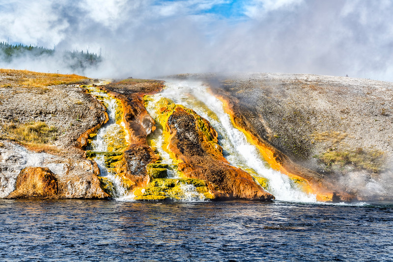 EXCELSIOR GEYSER OVERFLOW (3 Channels) into FIREHOLE RIVER
