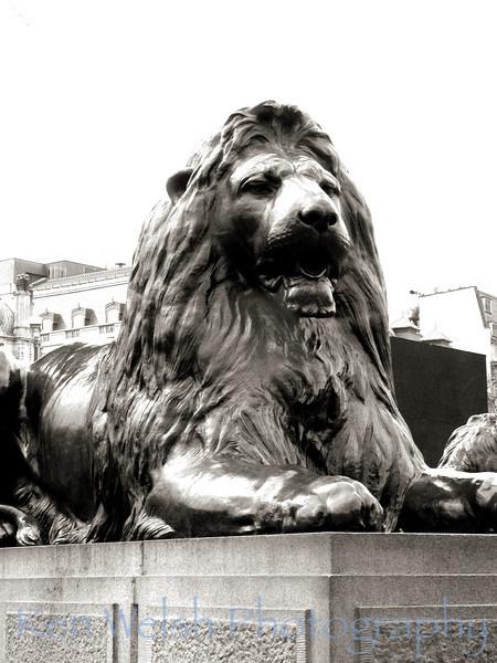 """Guarding Trafalgar Square""<br /> <br />   © Copyright  Ken Welsh"