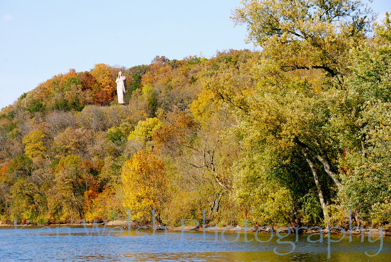 The Black Hawk Statue, or The Eternal Indian, is a sculpture by Lorado Taft located in Lowden State Park which is near the city of Oregon, Illinois. The statue is perched over the Rock River on a 77 foot (23.5 m) bluff overlooking the city.