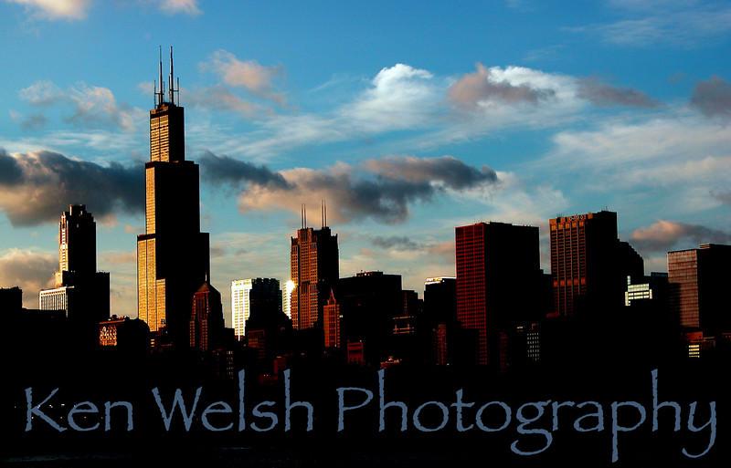 """""""Skyline""""<br /> <br /> Chicago, IL<br /> © Copyright Ken Welsh"""