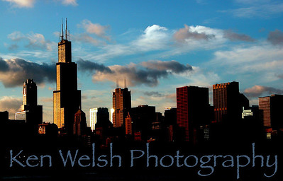 """Skyline""  Chicago, IL © Copyright Ken Welsh"