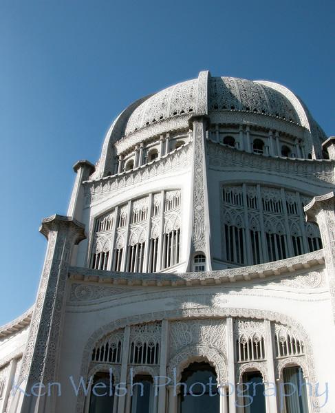"""The Temple""<br /> <br /> Bahá'í  Temple  <br /> © Copyright Ken Welsh"