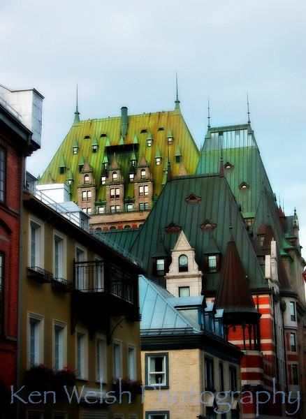 """""""Rooftops""""<br /> <br /> Quebec City<br /> © Copyright Ken Welsh"""