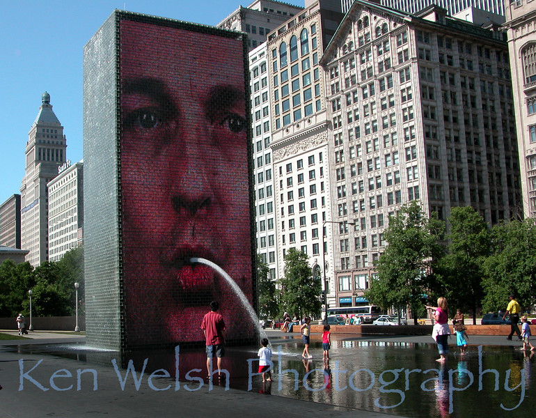 """Cooling Effect""<br /> <br /> Millennium Park  <br /> © Copyright Ken Welsh"