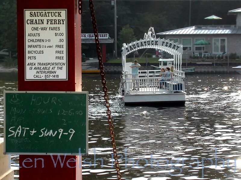 """""""Ferry""""<br /> <br /> Saugatuck <br /> © Copyright Ken Welsh"""