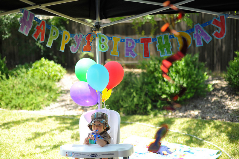 Landon High Chair 1st Birthday
