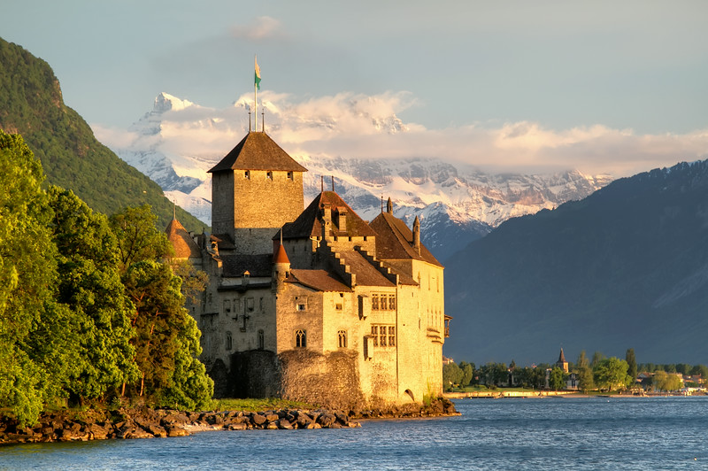 Chateau by the Alps
