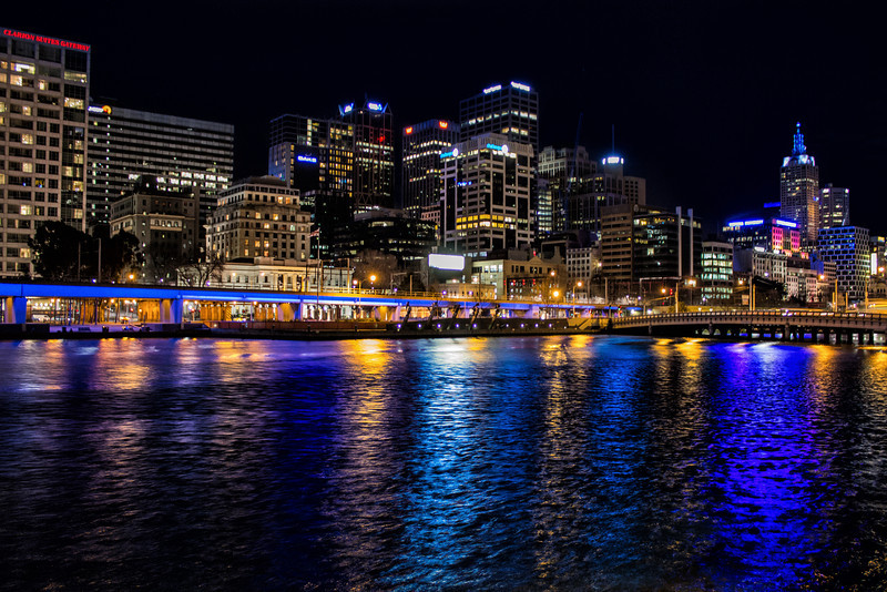 The Night Lights Of Melbourne