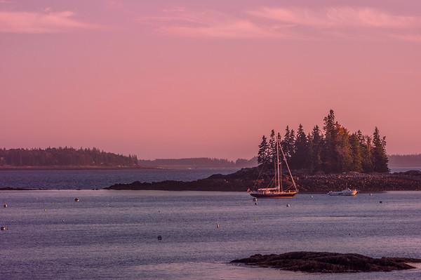 Seal Harbor, Maine, near sunset