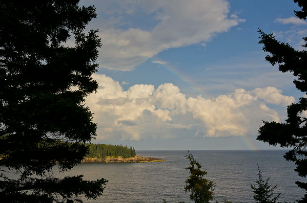 Rainbow over Park Loop Road, Acadia