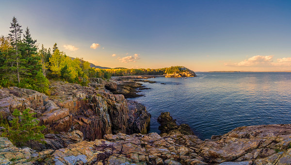 Schooner Head, Acadia National Park Panorama