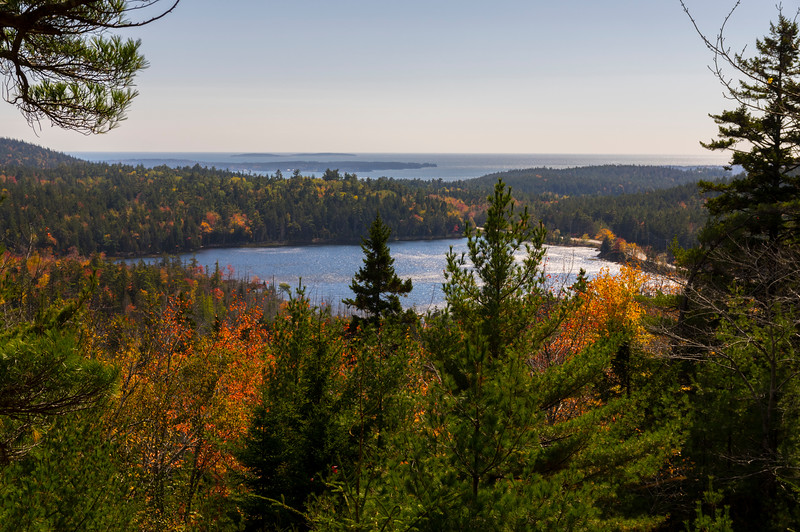 Upper Hadlock Pond from Carriage Road in Autumn, Acadia National Park