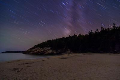 October Stars over Sand Beach