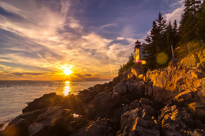 Bass Harbor Light October Sunset 206
