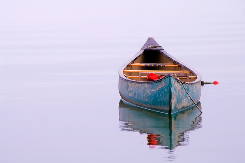 The Old Blue Canoe, Deer Isle, Maine