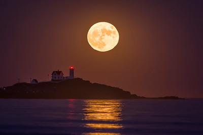 Super Moon November 2016, Nubble Light 2, York, Maine