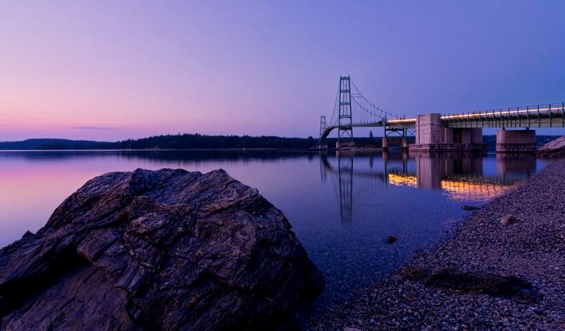 Deer Isle Bridge at Twilight, Deer Isle, Maine