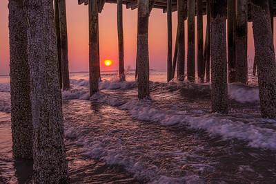 Old Orchard Beach Sunrise Splash, Maine