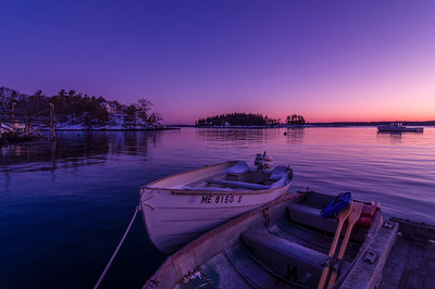 Two Boats before Dawn, Five Islands, Georgetown, Maine