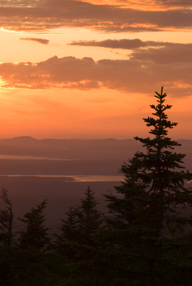 Cadillac Mountain Sunset, Acadia National Park, Maine