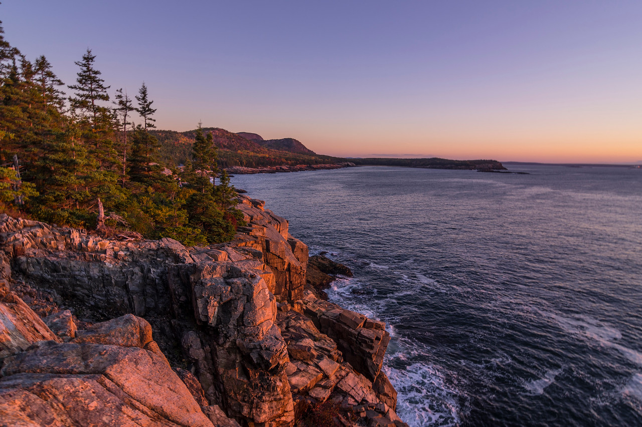 Otter Cliffs Dawn, Acadia National Park, Maine