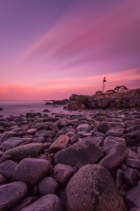 Sunset on the Rocks, Portland Head Light, Cape Elizabeth, Maine