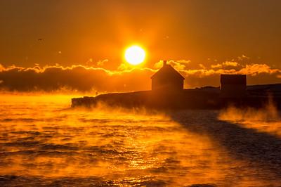 January Sea Mist, Willard Beach, South Portland, Maine