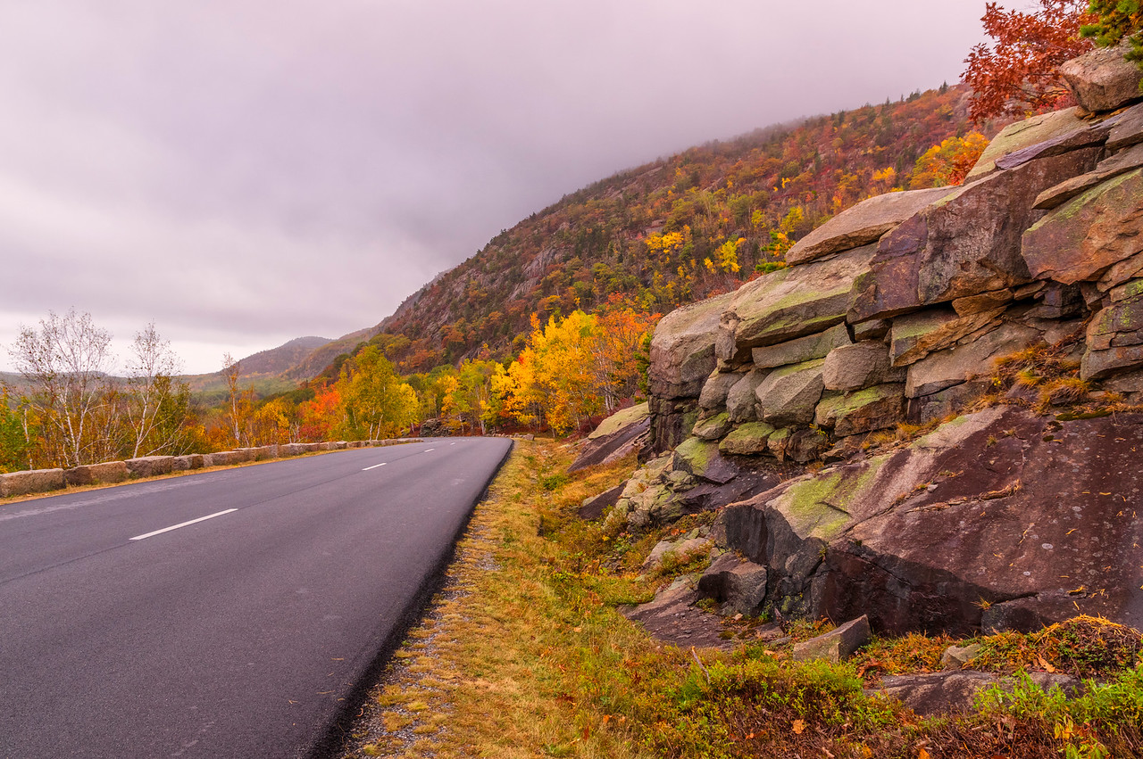 Park Loop Road in Autumn, Acadia National Park, Maine