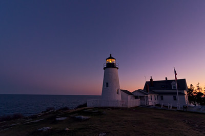 Pemaquid Point Twilight, Pemaquid, Maine