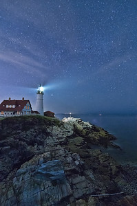 Starry Portland Head Light, Cape Elizabeth, Maine