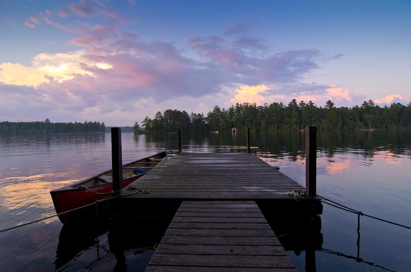 Rideouts Lodge Dock at Sunset, Grand Lake, Maine