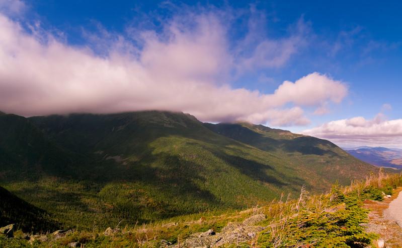 Halfway up Mount Washington, New Hampshire