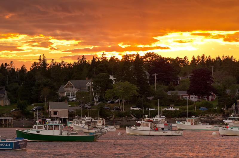 Bernard Harbor Sunset, Mount Desert Island, Maine