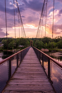 Androscoggin Walking Bridge Sunset 2, Brunswick, Maine