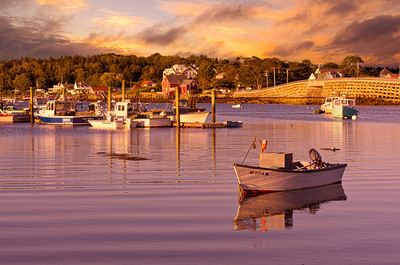 Garrison Cove at sunset, Bailey Island, Maine