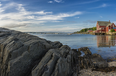 Rocks and Salt Water, Orr's Island, Maine Panorama