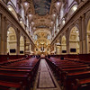 Quebec's massive and lovely Basilique Cathedrale, a 10 image handheld panorama.