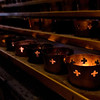Votive candles alight in Quebec's beautiful Basilique Cathedrale, Quebec City