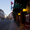 Looking up le Grande Allee, the old city, Quebec City