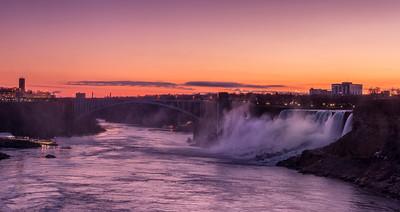 American Niagara Falls, pre-dawn