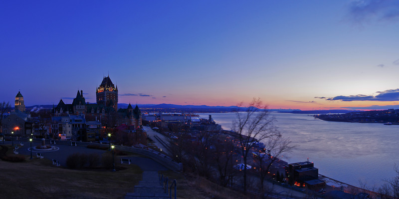 Quebec City at Dawn 1, 12 image panorama