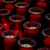 Votive candles alight in Quebec's beautiful Basilique Cathedrale, Quebec City 2