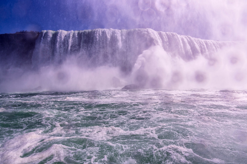 On the boat, Horseshoe Falls, Niagara, Ontario, Canada