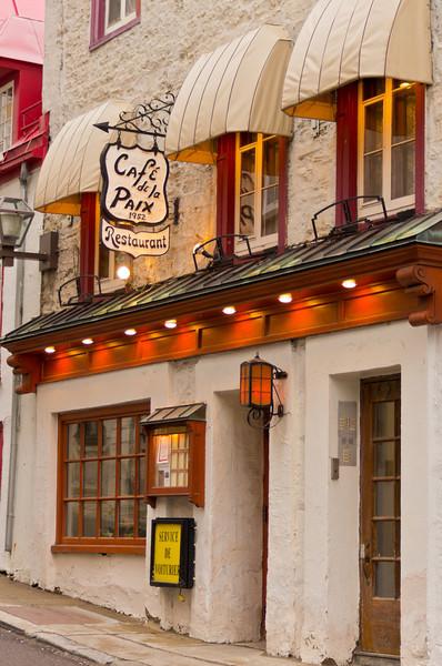 le Cafe Paix, Quebec City