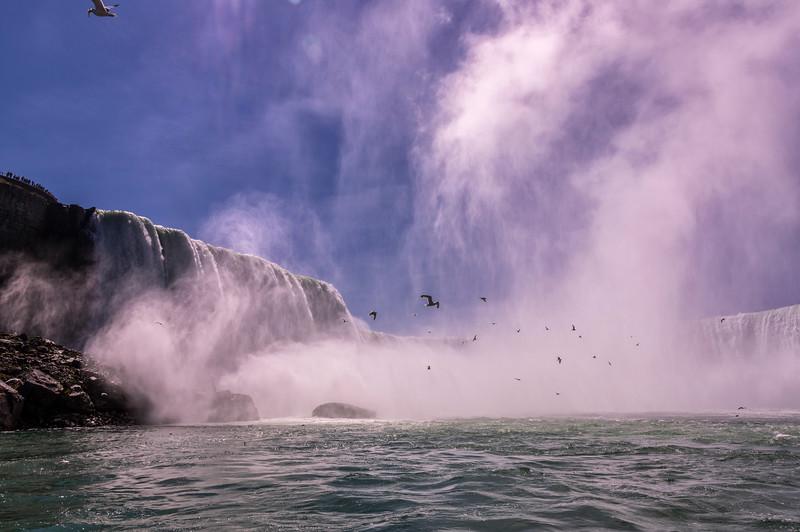 Horseshoe Falls, Canadian Niagara, from Hornblower Boat Tour
